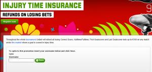 Unibet.com Injury Time Refund
