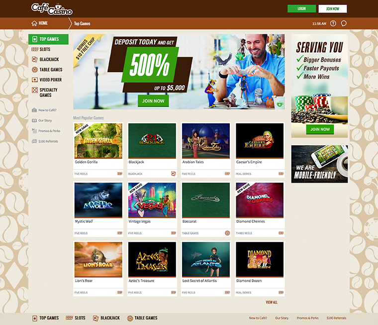 Cafe Casino Review Bitcoin Payments Accepted Bitcoin Betting