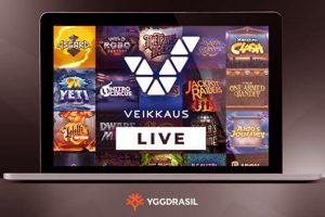 Veikkaus Adds Yggdrasil's Entire Casino Games Portfolio