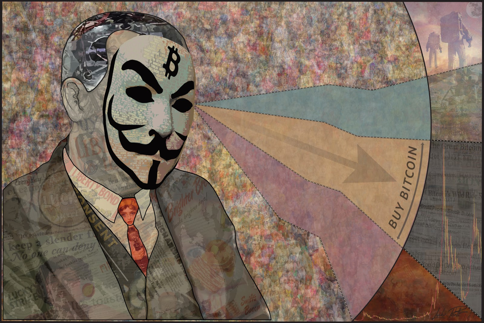 Self-described propagandist Lucho Poletti is on a mission to evangelize Bitcoin through his art.