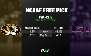 Prediction Machine NCAAF Free Pick: LSU vs Missouri